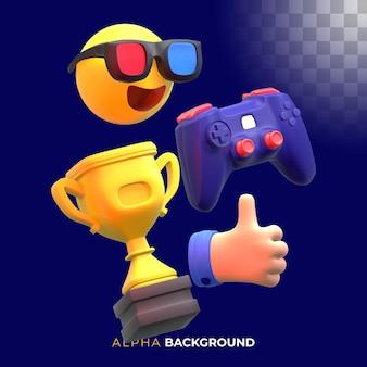 Elementos de videogame engraçados