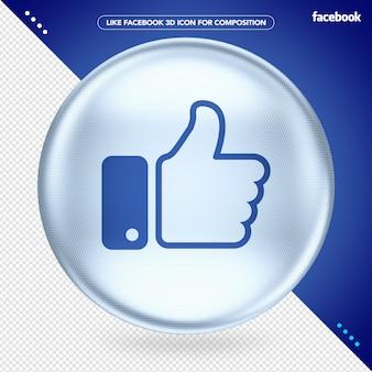 Elipse 3d branca como facebook