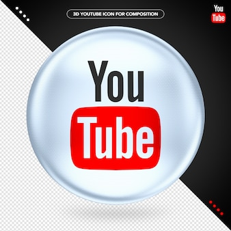 Ellipse 3d white logo youtube play