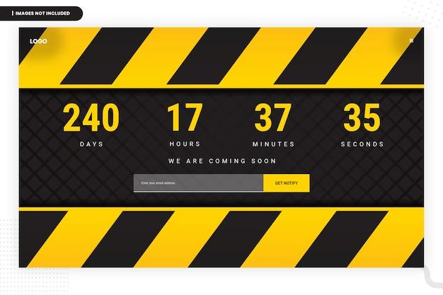 Em breve modelo de página do site