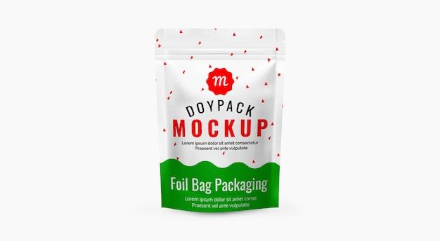 Embalagem de alimentos mockup cofffee bag mockup maquete de bolsa de plástico