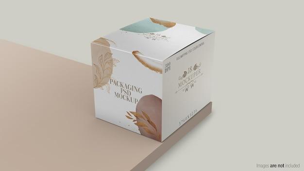 Embalagem de maquete de caixa em renderização 3d
