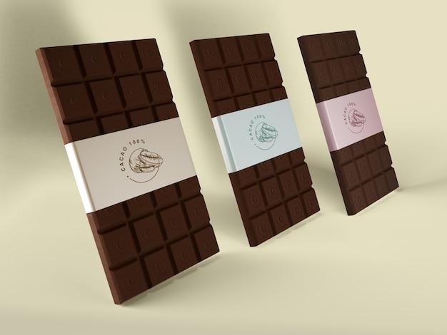 Embalagem de papel para tabletes de chocolate