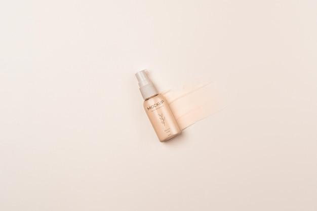 Embalagem de produtos cosméticos acima da vista