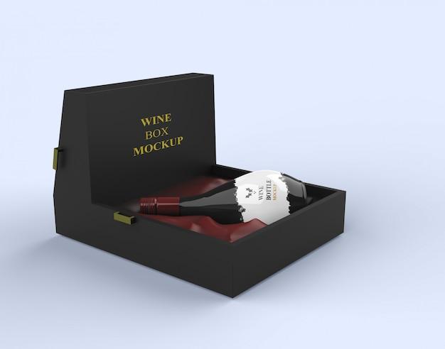 Embalagem de vinho mockup