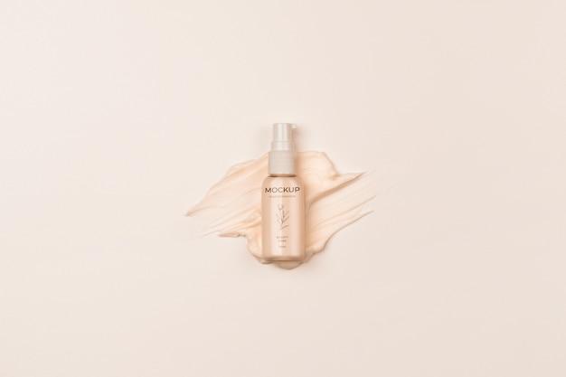 Embalagem plana de produtos cosméticos