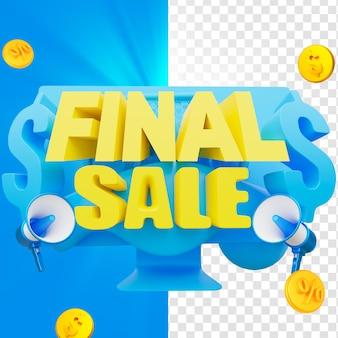 Emblema 3d de venda final