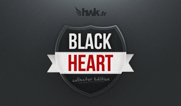 Emblema blackheart sangue botão escuro elegante tecido cardíaco hwk fita textura brilho sexy