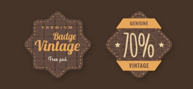 Emblemas do vintage template psd
