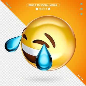 Emoji 3d chorando e rindo de alegria