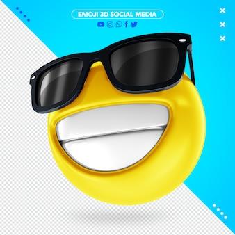 Emoji 3d com óculos de sol