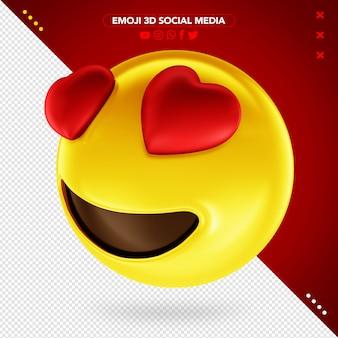 Emoji 3d coração olhos amorosos para maquiagem
