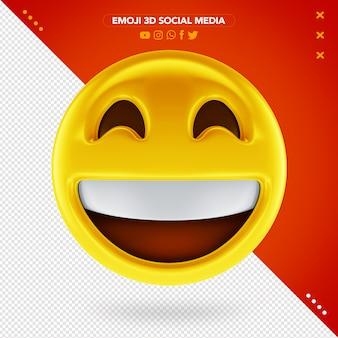 Emoji 3d muito feliz e um sorriso muito alegre