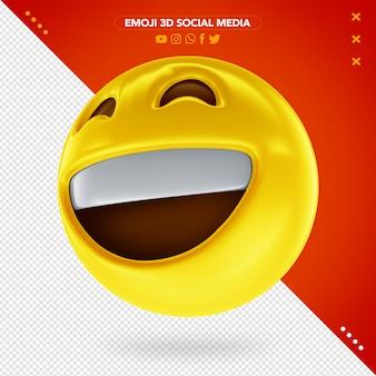 Emoji 3d muito sorridente e feliz