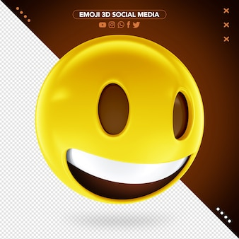 Emoji 3d sorriso muito feliz