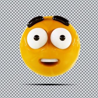 Emoji 3d wow design criativo
