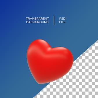 Emoji de amor de coração 3d