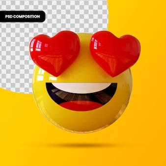 Emoji de coração 3d para maquiagem psd premium