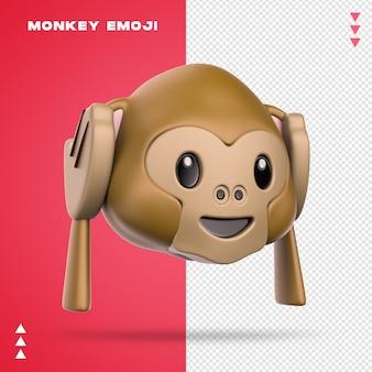Emoji de macaco realista