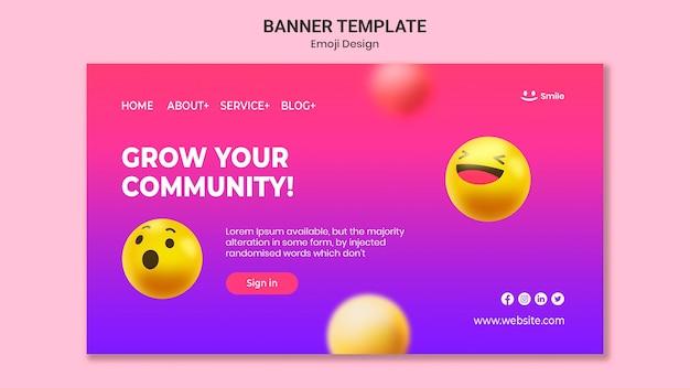 Emoji design banner template