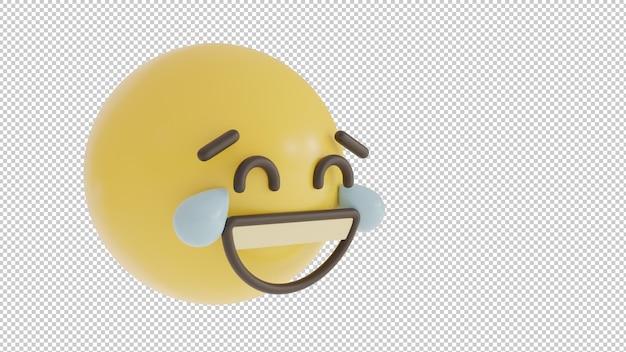 Emoji png vista lateral rindo