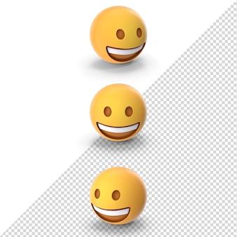 Emoji rindo 3d