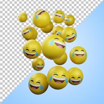 Emoticons rindo 3d