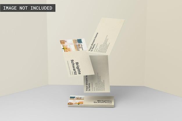 Empilhamento de maquete de cartão de visita