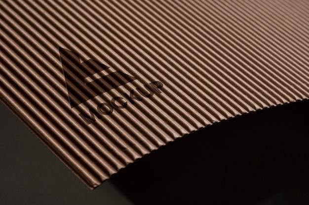 Empresa de design de logotipo enrolado mock-up