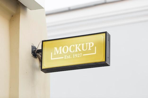 Empresa de negócios assinar composição de mock-up