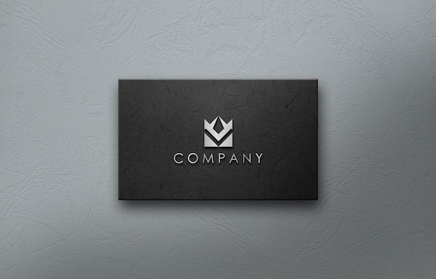 Empresa de negócios de maquete de logotipo 3d