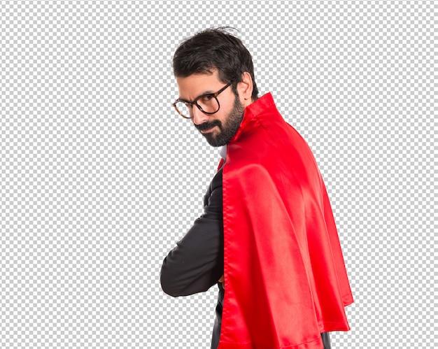 Empresário vestido de super-herói