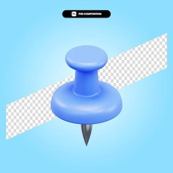 Empurre a ilustração de renderização 3d isolada