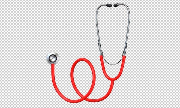 Enfermeira estetoscópio vermelho símbolo médico de saúde