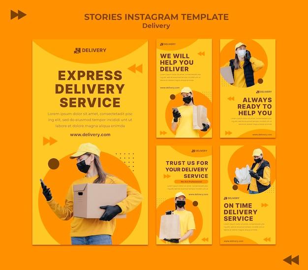 Entrega de histórias de mídia social