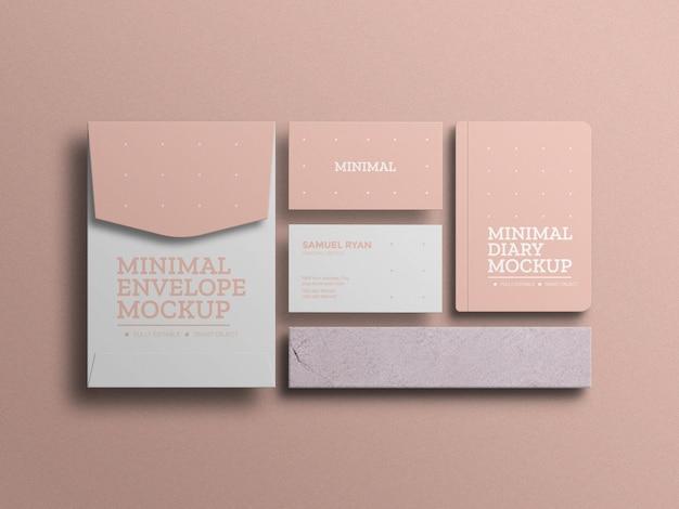 Envelope a4 com maquete de cartão de visita