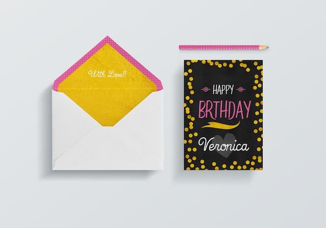 Envelope e cartão maquete