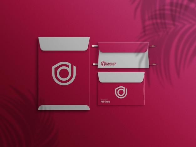 Envelope multi size psd 3 mockup