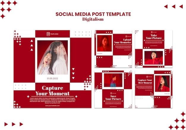 Envie sua postagem de mídia social do melhor momento