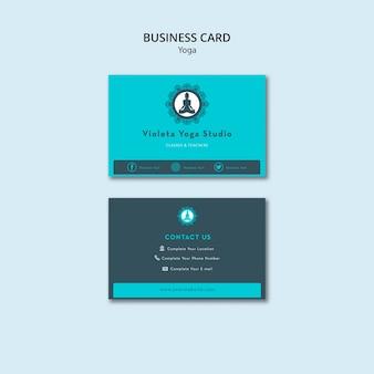 Equilibre sua classe da ioga da vida cartões de visita