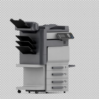 Equipamento de escritório isométrico 3d render