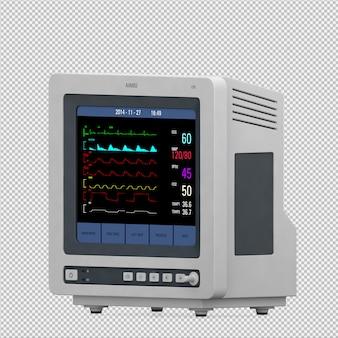 Equipamento médico isométrico 3d render