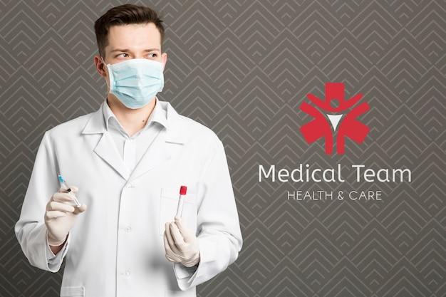 Equipe médica contra coronavírus