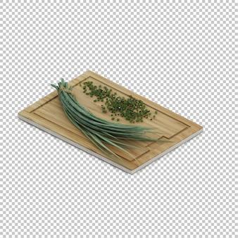Ervas de cozinha isométrica