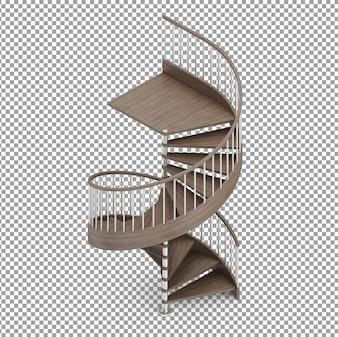 Escadas redondas isométricas