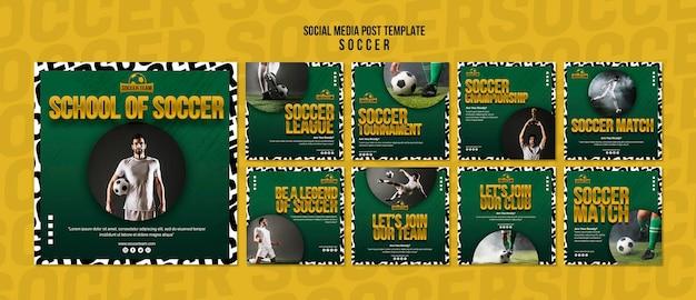 Escola de futebol post de mídia social