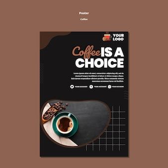 Escolha o modelo de pôster de café
