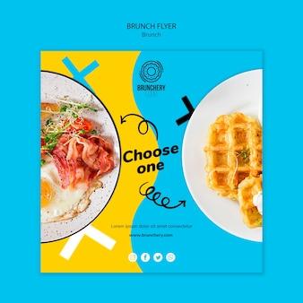 Escolha um flyer para brunch