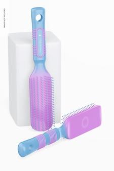 Escovas profissionais para maquete de cabelo, magra e caída