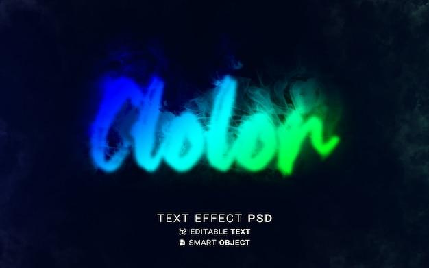 Escrita com efeito de texto colorido